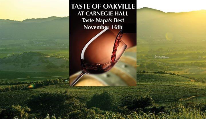 Oakville winegrowers present at Carnegie Hall