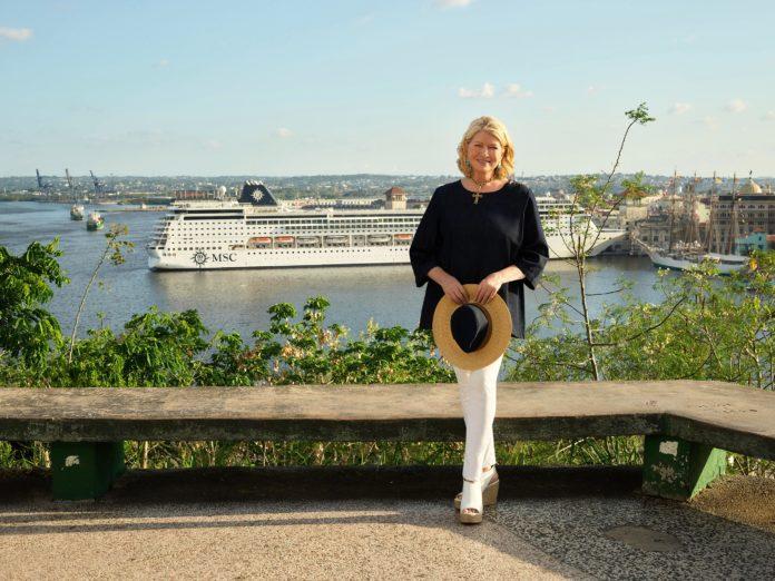 MSC Cruises partners with Martha Stewart