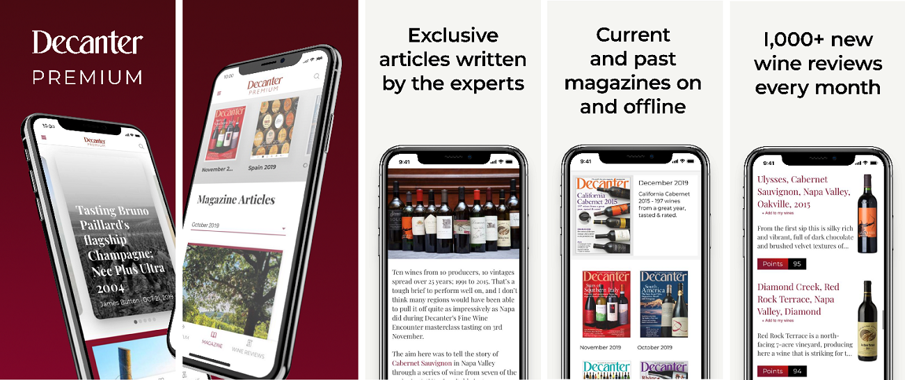 Decanter unveils the new Decanter Premium app