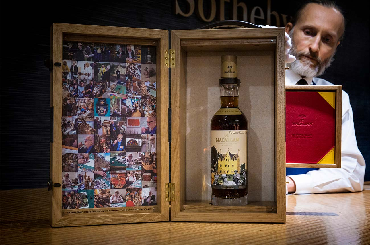 Three 'one-of-a-kind' bottles raise over $500,000 at Sotheby's NY spirits auction