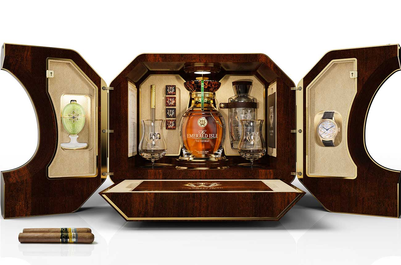 Rare Irish whiskey and Fabergé case sold for $2m