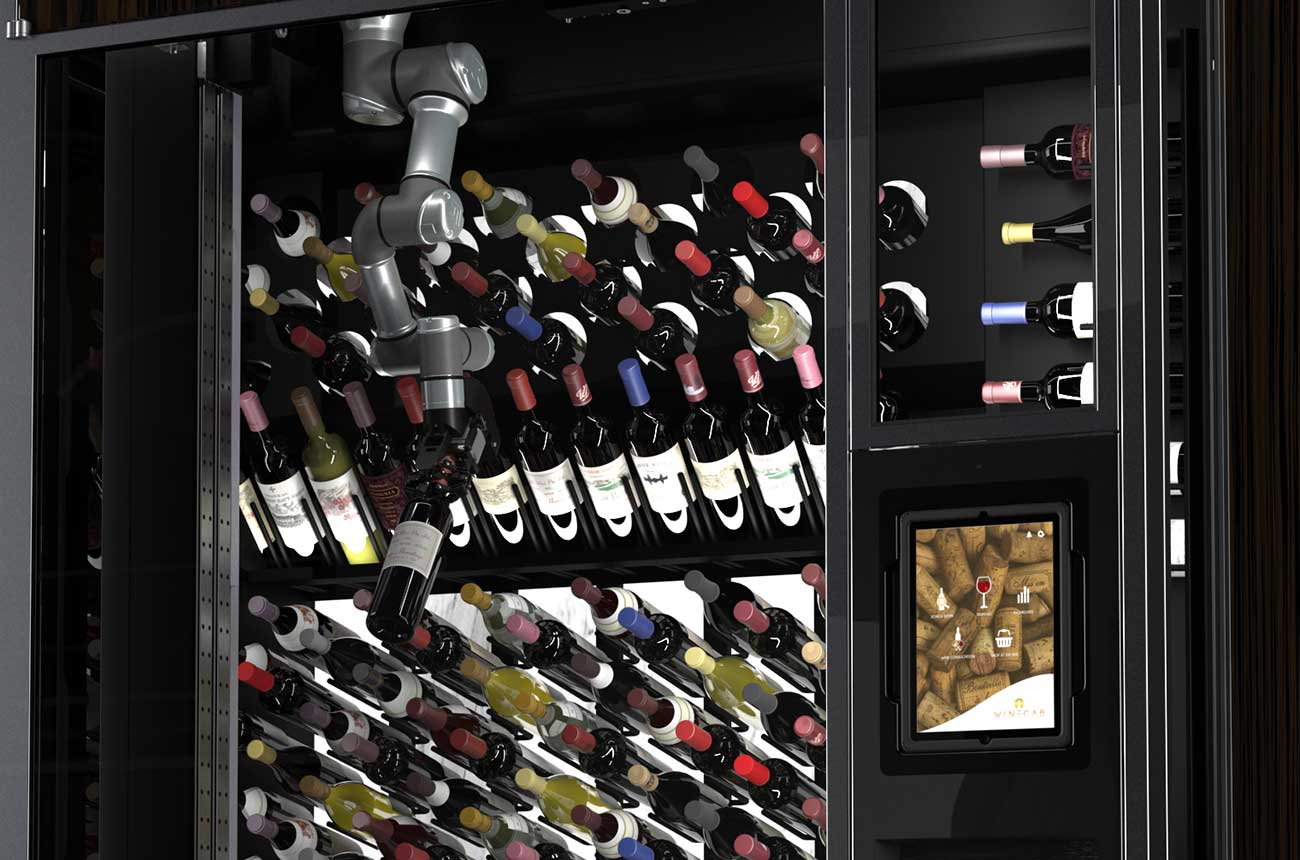 Luxury wine wall with 'robotic arm' launches
