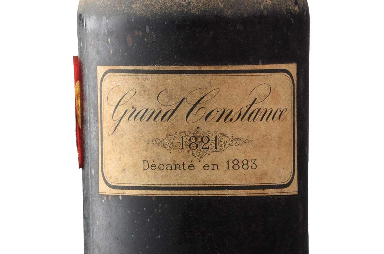 Rare wine 'destined' for Napoleon, Grand Constance 1821, fetches £21k