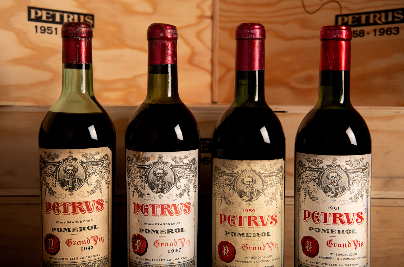 72-vintage Petrus vertical caps California cellar's mudslide revamp