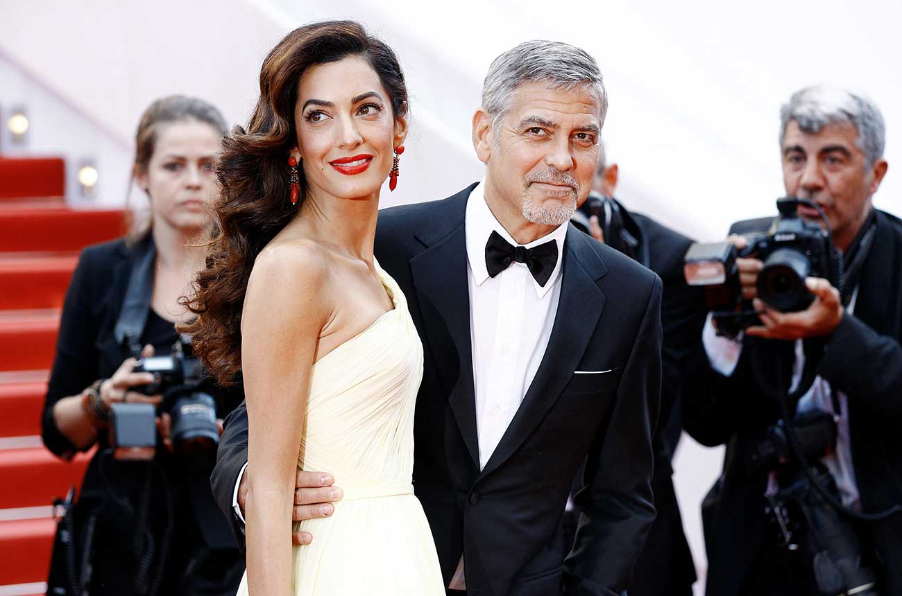 George and Amal Clooney arrive at new Provence estate