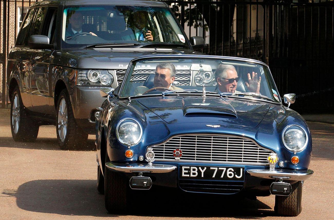 Prince Charles says Aston Martin runs on wine leftovers